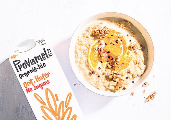 Provamel Hafermilch, Schüssel Porridge